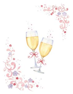 Anniversary clipart champagne flute. Wedding glasses clip art