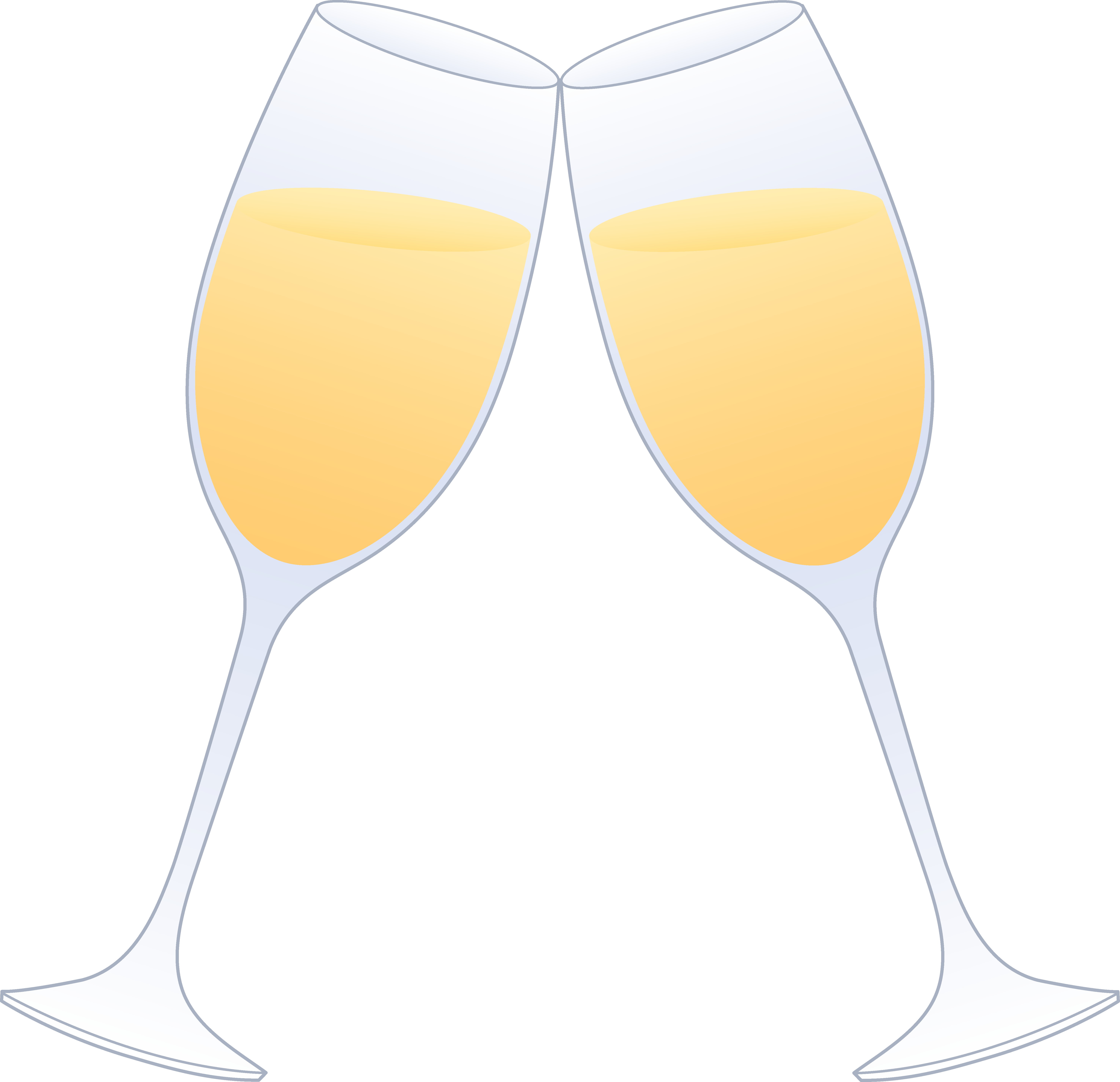 Anniversary clipart champagne glass. Glasses of clinking free