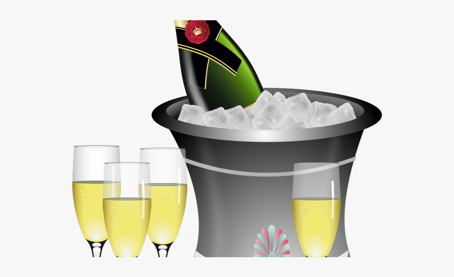 Drawn . Anniversary clipart champagne glass