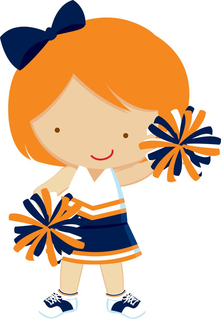 best cheerleader superbowl. Cheer clipart orange