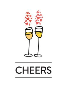 Cheers illustration via happiness. Champaign clipart bubbly