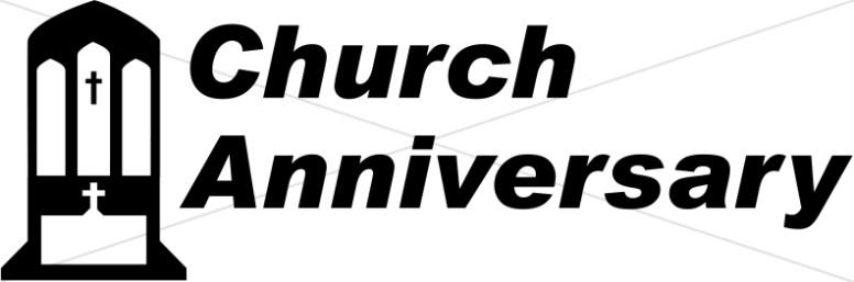 Anniversary clipart church. Word art