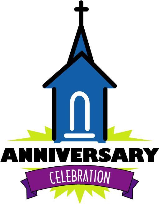 Anniversary clipart church. Black