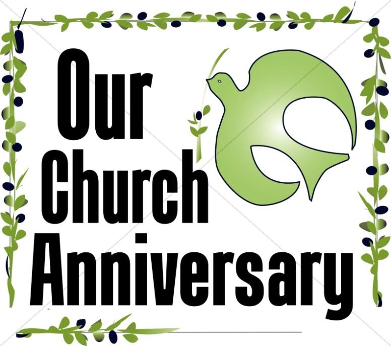 Our anniversary word art. Announcements clipart church