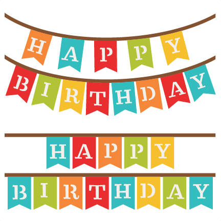 Incep imagine ex co. Banner clipart happy birthday
