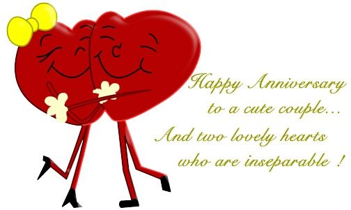 Happy to a cute. Anniversary clipart lovely couple