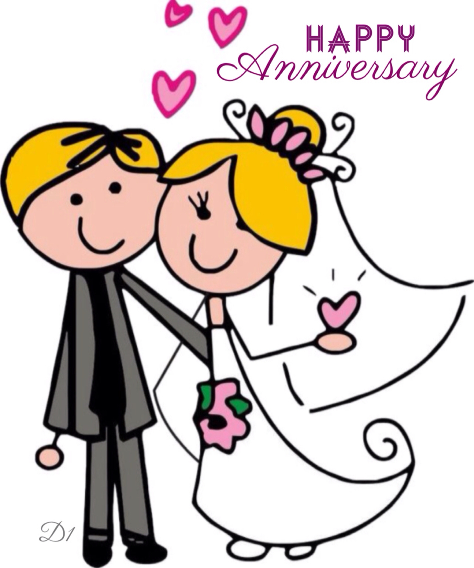 th wedding free. Anniversary clipart married