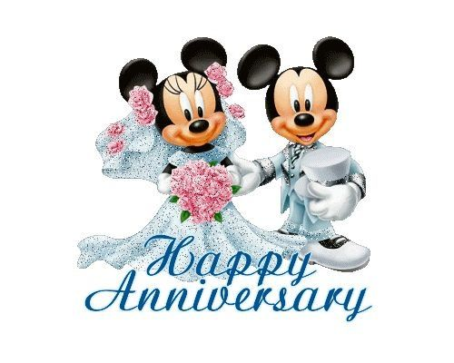 Happy mickey minnie mouse. Anniversary clipart married