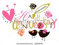 Anniversary clipart may. Happy tarjetas cumplea os