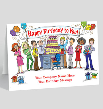 Anniversary clipart office. From all of us