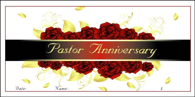 Anniversary pastor