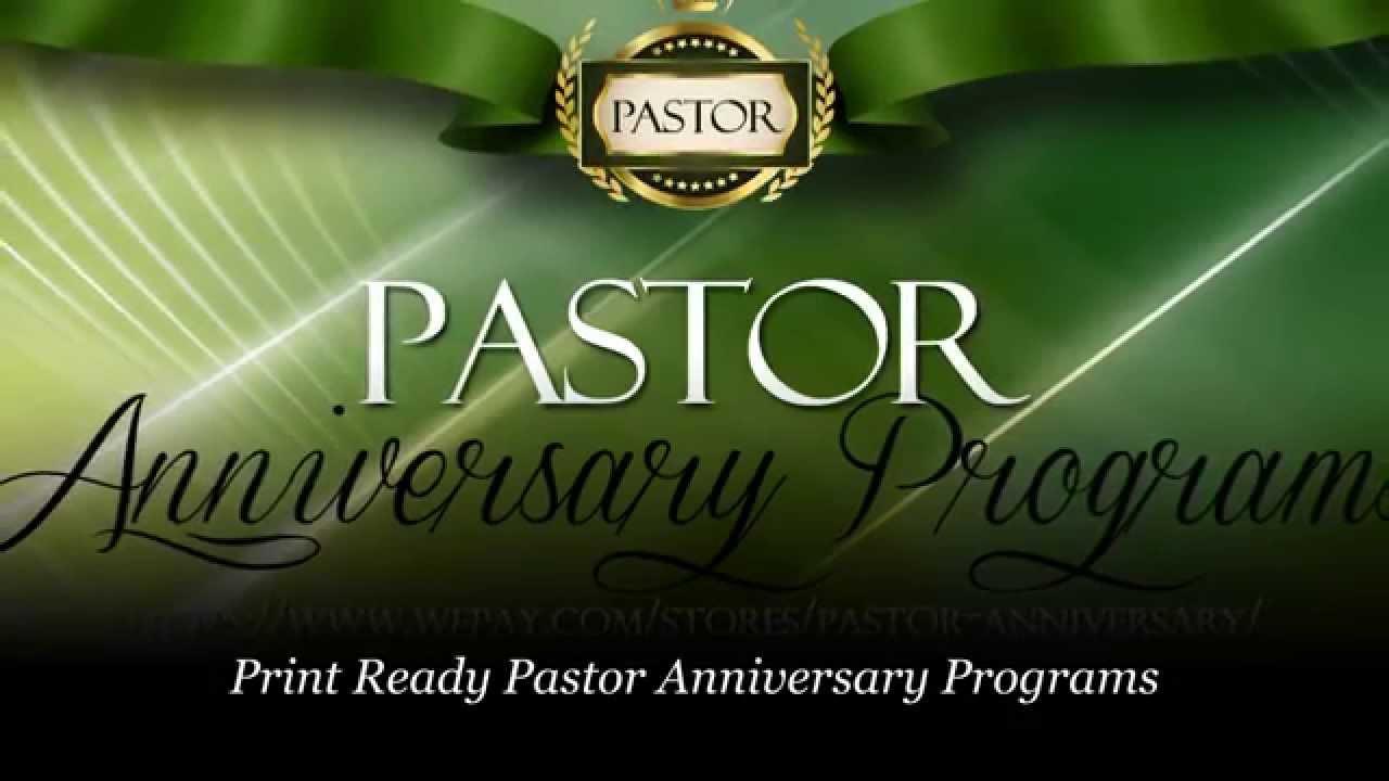 Anniversary clipart pastor. Appreciation programs youtube