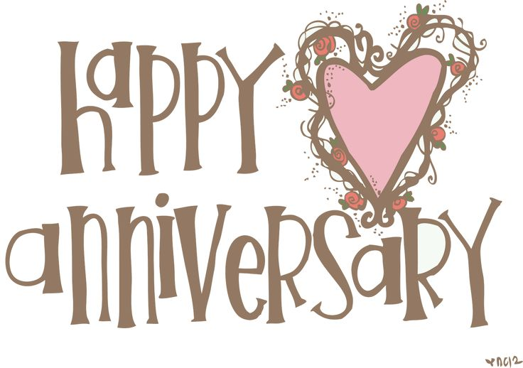 best happy images. Anniversary clipart printable