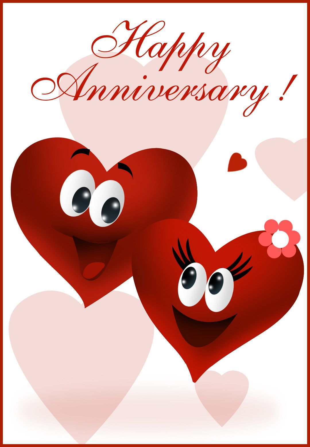 Free happy greeting card. Anniversary clipart printable