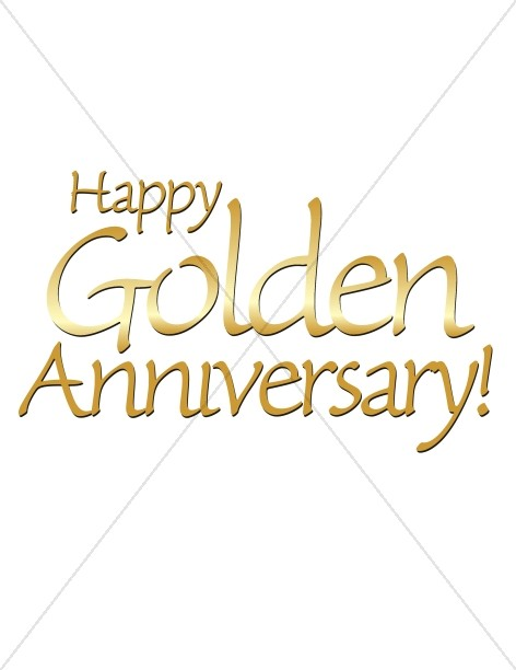 Anniversary clipart religious. Happy golden words christian
