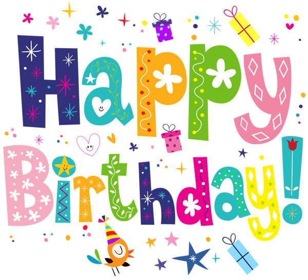 Excited clipart surprise present. Happy birthday cute png