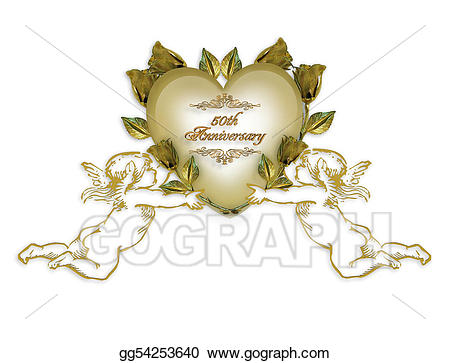 Anniversary clipart victorian. Th invitation angels stock