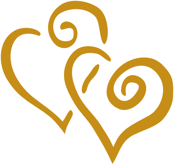Gold clip art at. Hearts clipart home