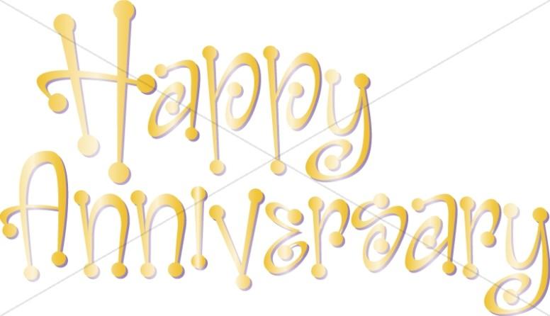 Anniversary clipart wedding anniversary. Cute happy wordart with