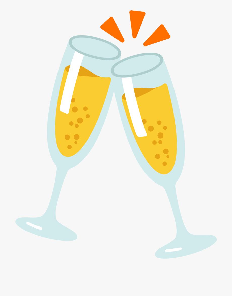 New year emoji . Anniversary clipart wine glass