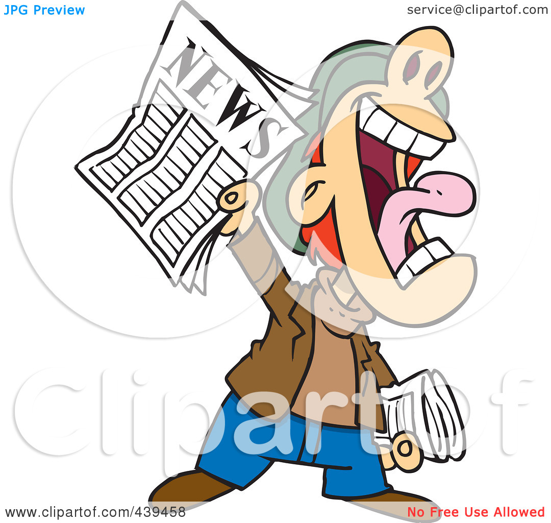 Person ancouncing news . Announcement clipart animated