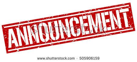 Announcements clipart announcement banner. Station