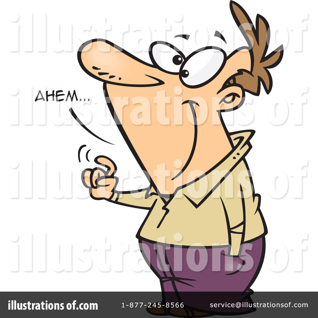 Illustration by toonaday royaltyfree. Announcement clipart attention