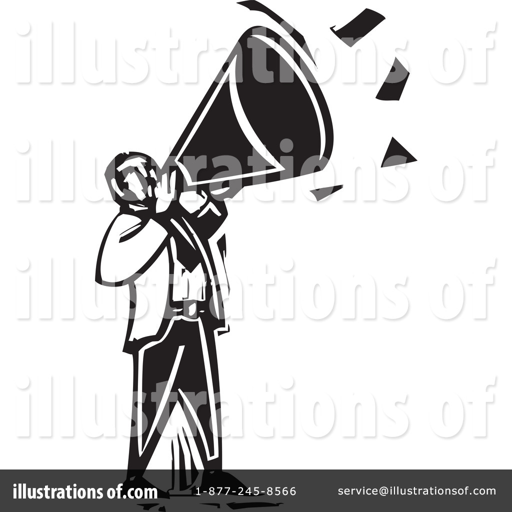 Announcement clipart black and white. Illustration by xunantunich royaltyfree