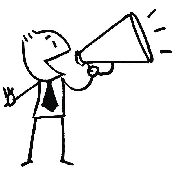Announcement clipart black and white.  collection of voice