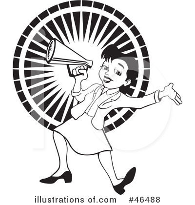 Illustration by david rey. Announcement clipart black and white