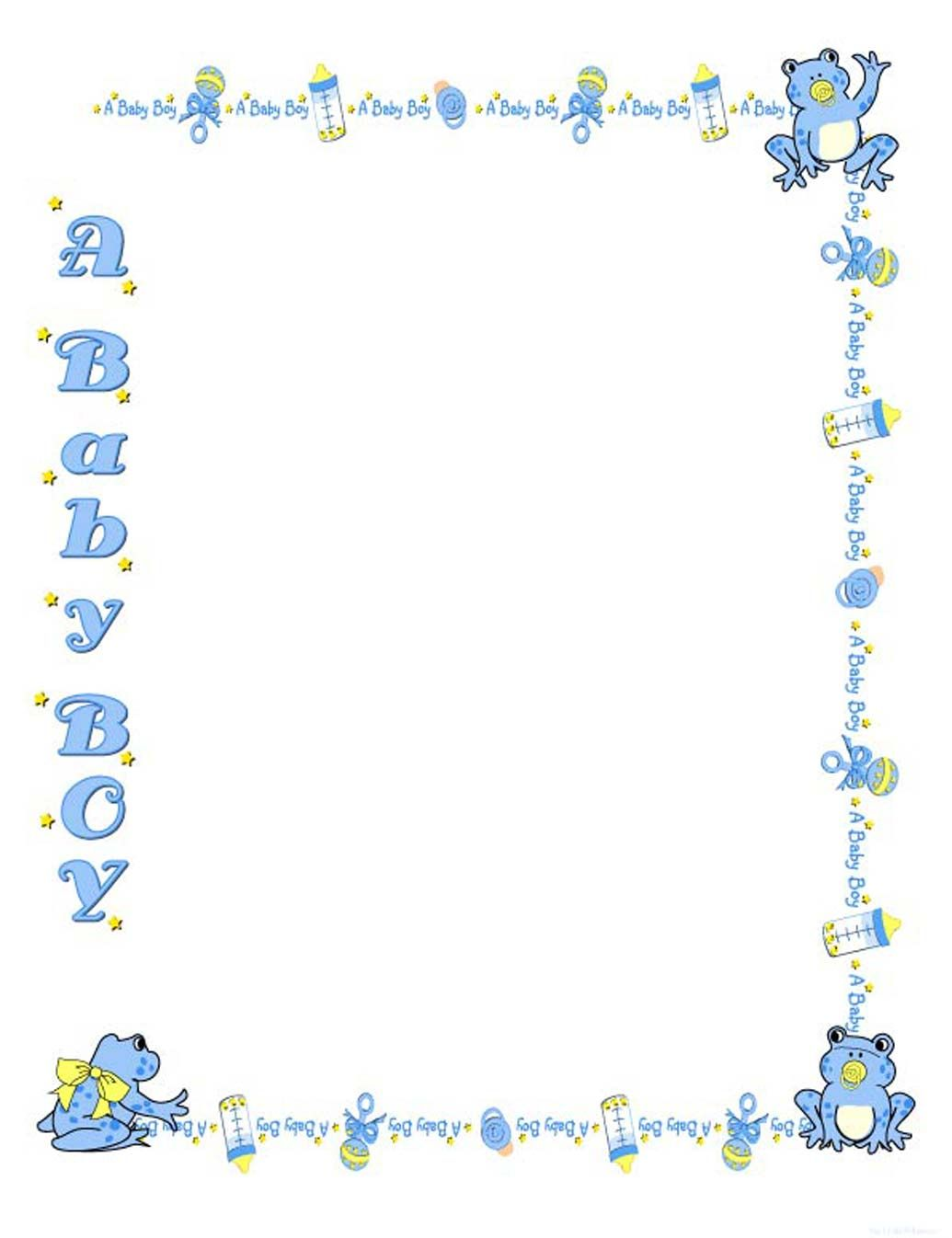 Free baby shower templates. Diapers clipart border