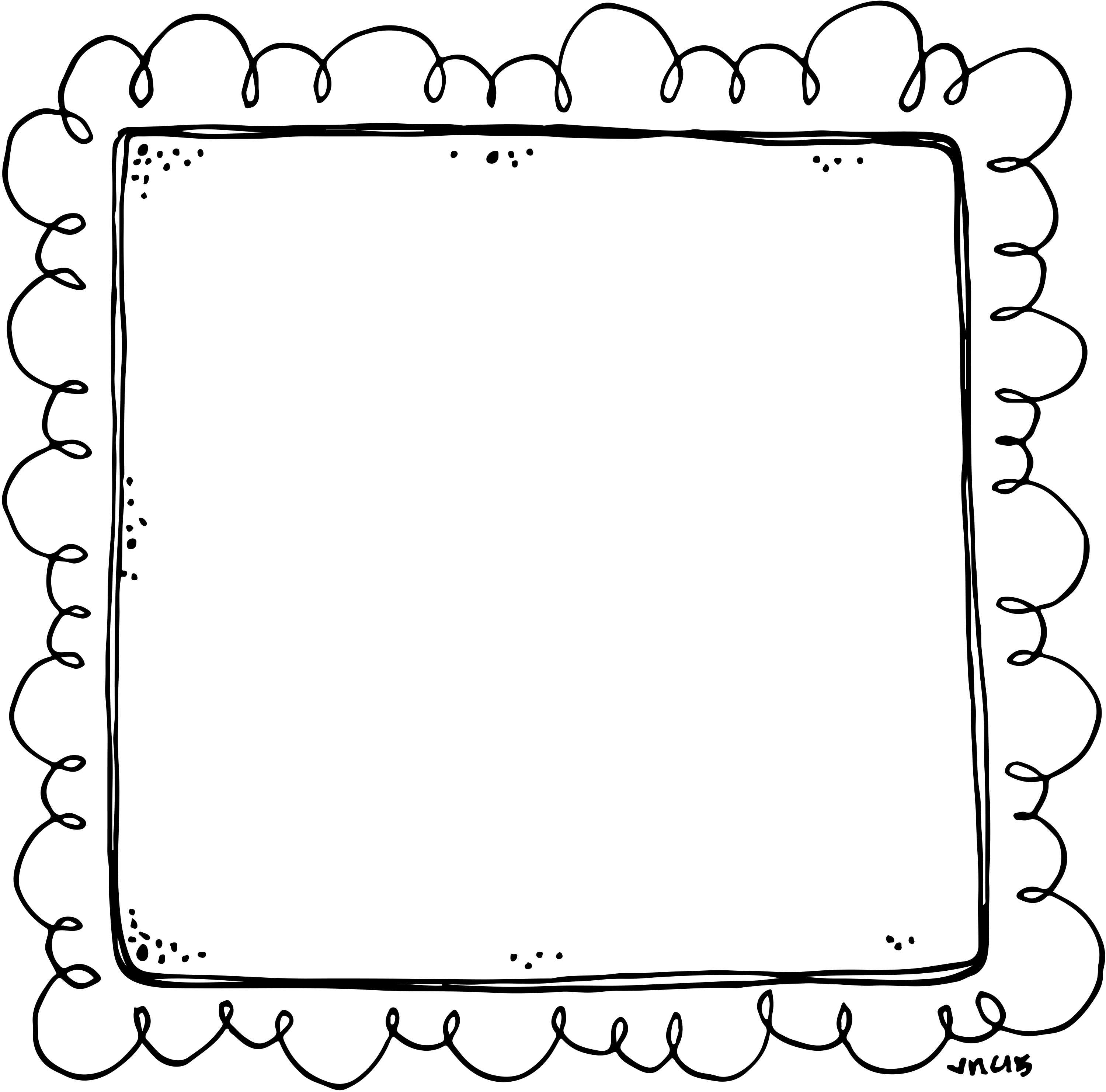 Or frame for newsletters. Announcement clipart border