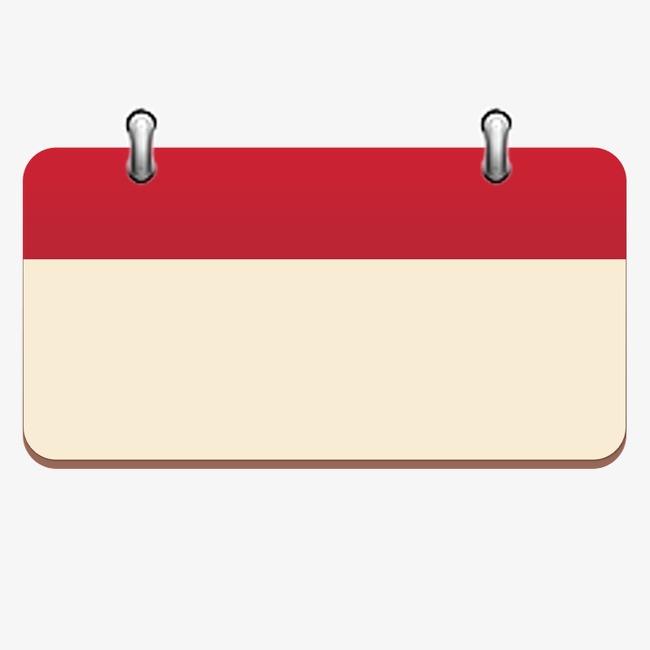 Calendar red background png. Announcement clipart bulletin