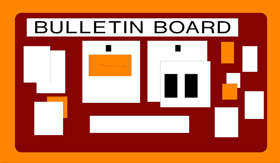 collection of school. Announcements clipart bulletin