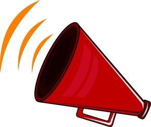 Announcement clipart cartoon. Image red megaphone speaker