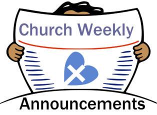 December rd weekly announcements. Announcement clipart church
