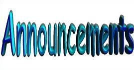 Announcement clipart church. Free bulletin