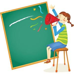 Abstract glossy teacher on. Announcement clipart classroom