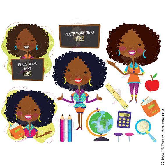 Announcement clipart classroom. Teacher clip art african