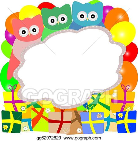 Announcement clipart cute. Stock illustration owl holiday
