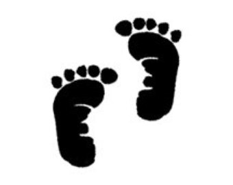 Baby etsy studio feet. Announcement clipart cute