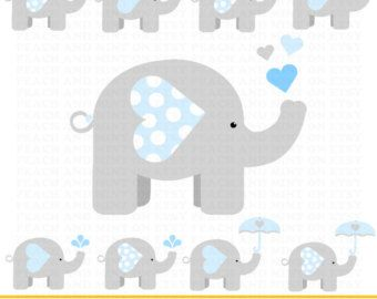 Announcement clipart elephant. Girl baby clip art