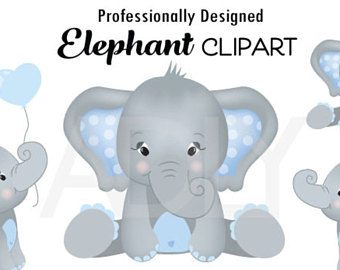 Bath clipart elephant. Etsy gray baby blue