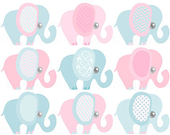 Announcement clipart elephant. Baby boy cute clip