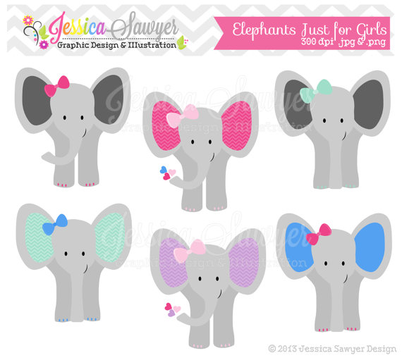 Instant download girls jungle. Announcement clipart elephant