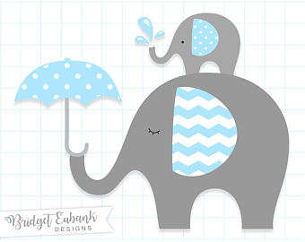 Etsy baby clip art. Announcement clipart elephant