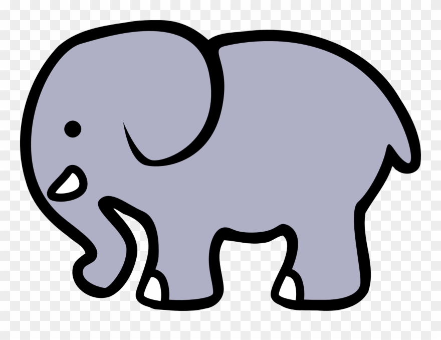 Black and white girl. Announcements clipart elephant