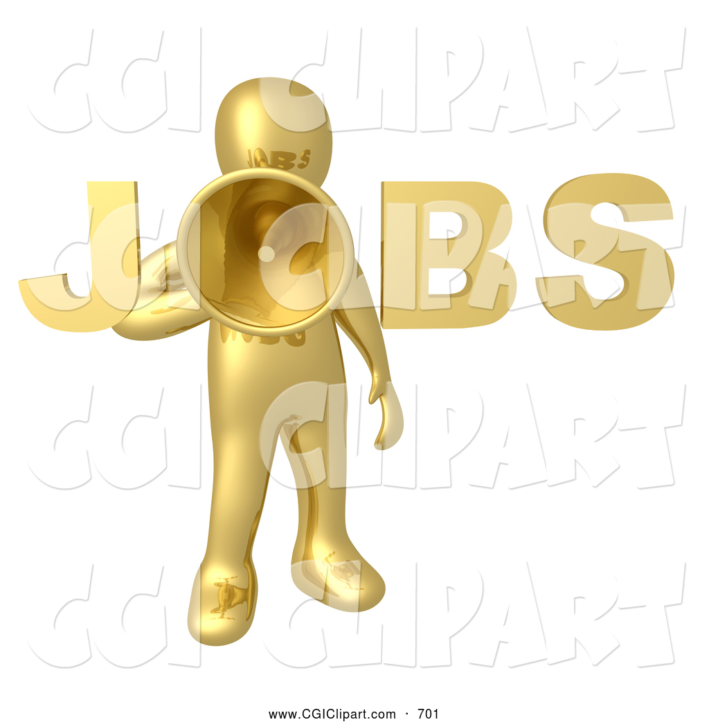 Royalty free stock cgi. Announcement clipart employee