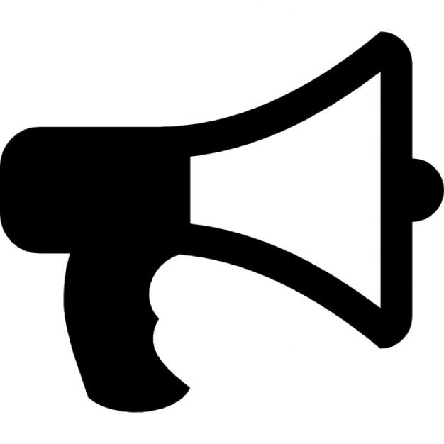 Bull announcer icons free. Announcement clipart horn