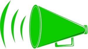 Panda free images megaphone. Announcements clipart horn